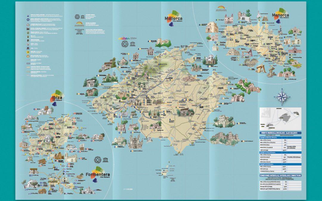 Mapas ilustrados de las Islas Baleares